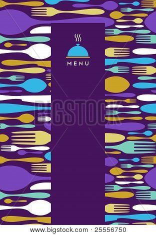 Design do Menu de comida, restaurante, em violeta