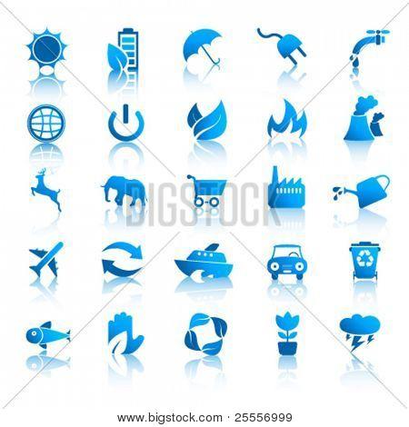 Conjunto de ícones do ambiente 1