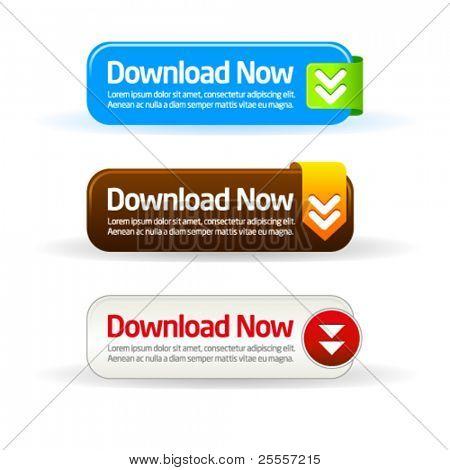 Simples download moderno agora botão coleção