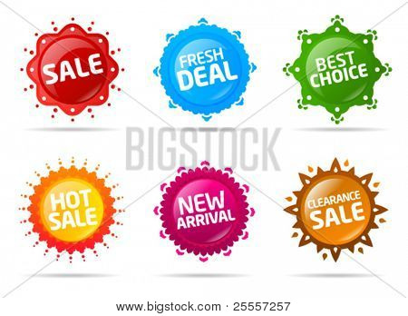 Colorful sale label collection 2
