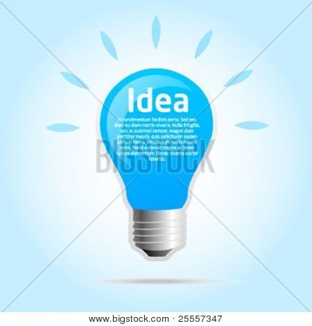 Idea template light bulb