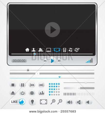 Reproductor simple mínimo con los iconos