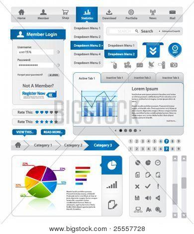 Colección de plantillas de sitio web azul moderno
