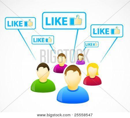 Kleurrijke sociaal netwerk mensen met zoals tekenen