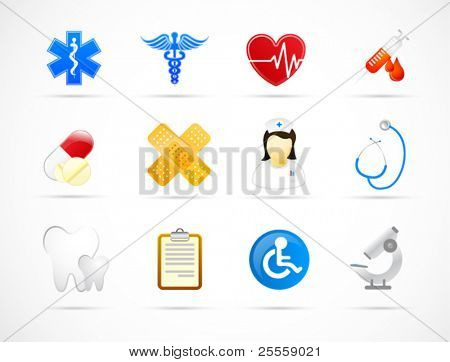 Moderno medical icon set