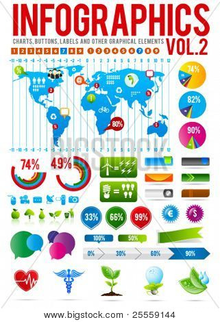 Colorful infographic vector collection 2