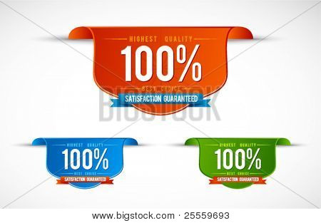 Colorful modern labels and badges vector set