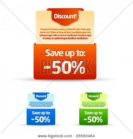 Colorful Save up to banners and ads