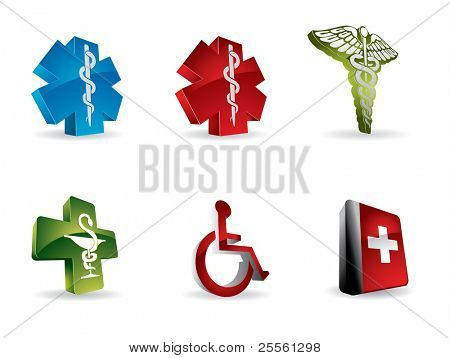 Medical 3d icons