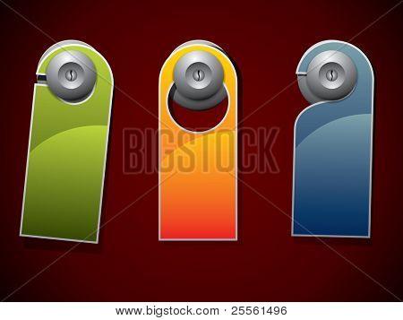 Sinal de botão ou gancho de porta - não perturbe
