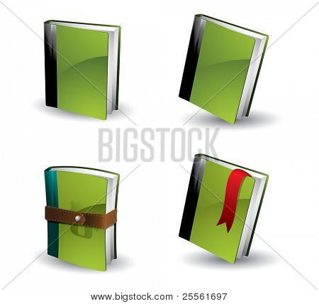 Buch Icon-set