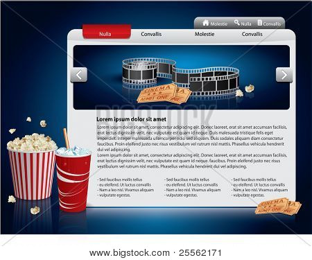 Webdesign Vorlage - Movie theme