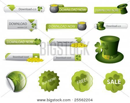 Saint Patrick's Day download buttons