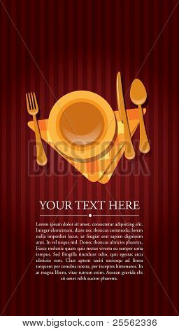 Restaurant invitation with text
