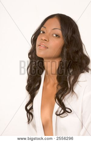 Fresh Ethnic Girl In Suggestive Outfit