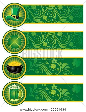 St. Patrick's Day, set of banners. Vector image.