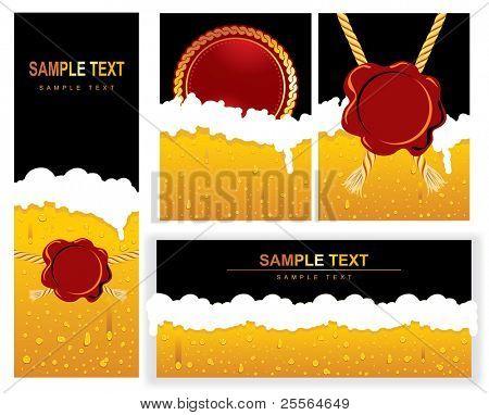 Set of BEER Background. Vector image.