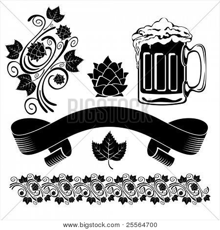 BEER design elements. Vector image.