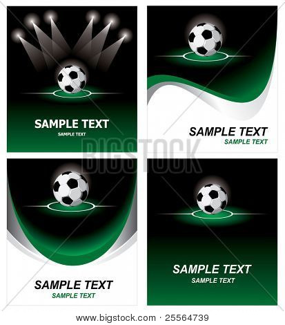 Various soccer background. Vector.