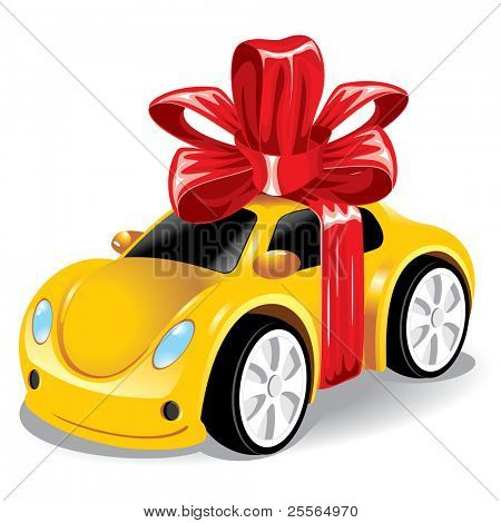 car as a gift to you, vector