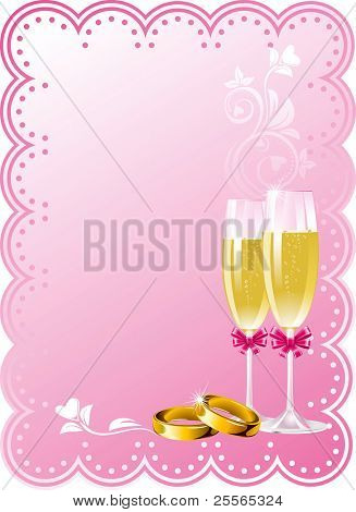 Wedding background in pink tone, vector