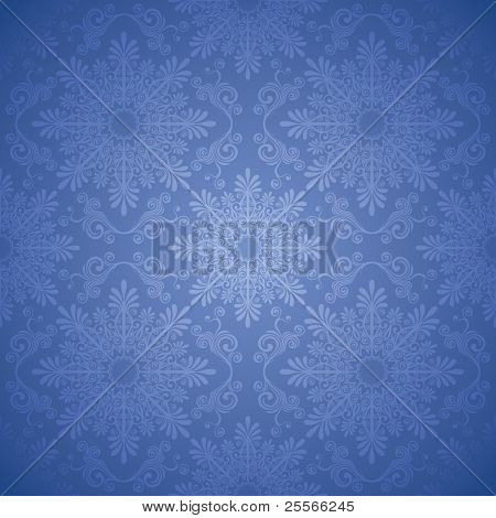 Christmas seamless background with a large snowflake