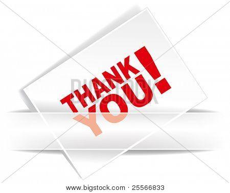 Thank you - grateful card. Vector illustration.