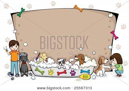 Mascotas Grooming Salon Banner