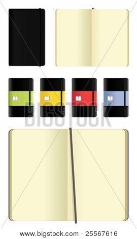 conjunto de cadernos Moleskine - recorte em branco