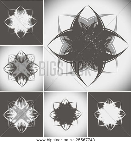 Abstract grunge shapes for your creative design - isolated high quality detailed graphics