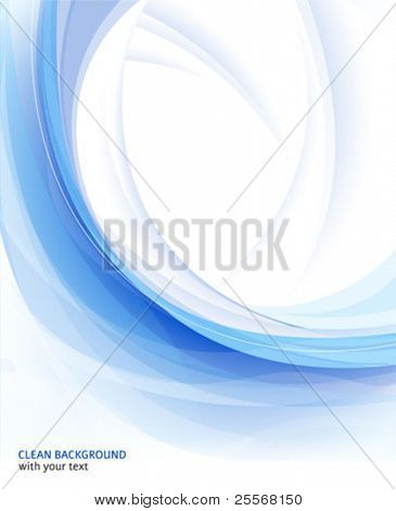 Fondo limpio azul Resumen de Vector