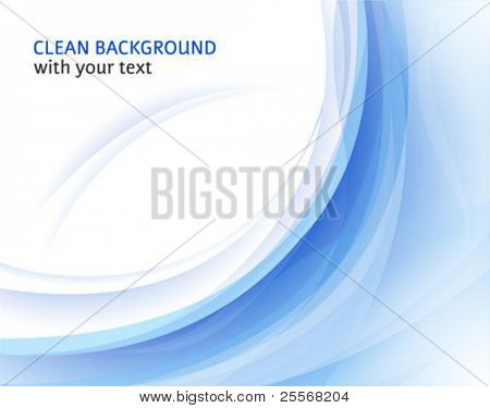 Fresh vector horizontal abstract background with curve shapes