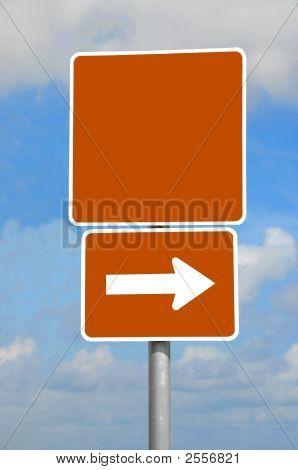 leere Straßenschild