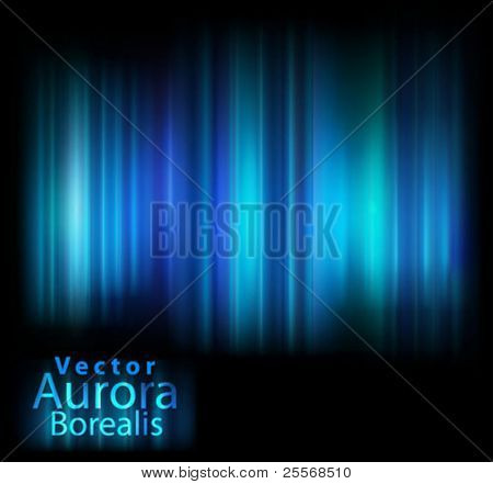 Vector aurora lights