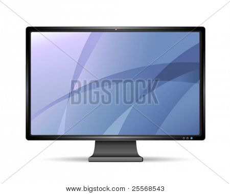 Vektor-lcd-Monitor, isolated on white