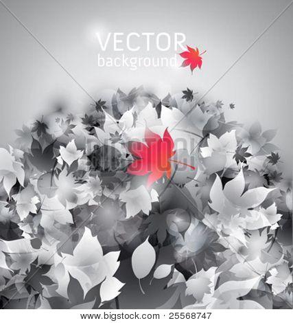 hojas de otoño en un terreno - vector conceptual