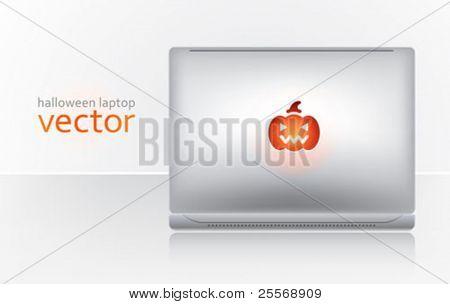 laptop creativo de Halloween - vector web cabecera decoración