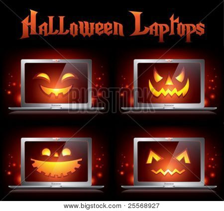 halloween creative vector monster icons