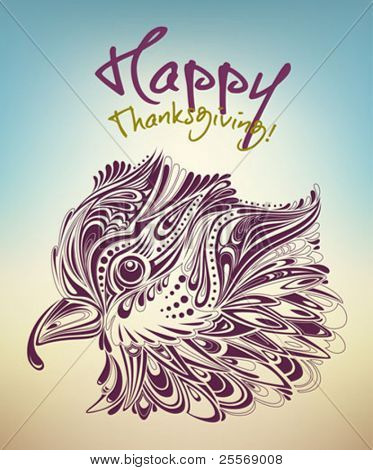 thanksgiving turkey creative card