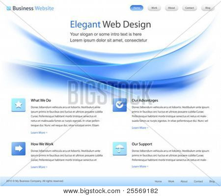 elegant web site design template - vector