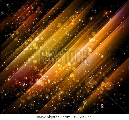 beautiful golden background with shiny particles and lights - JPG version