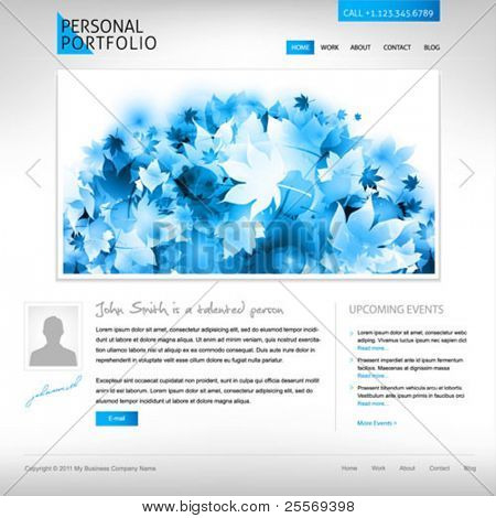 white website template - portfolio presentation for artists, designers,  photographers