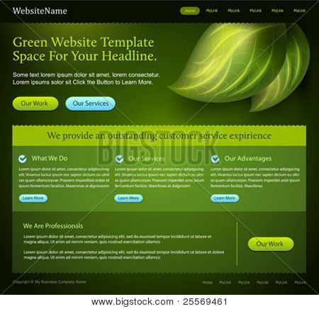 vector green website template