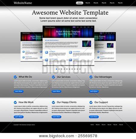 Elementos de página web de diseño web - plantilla brillante