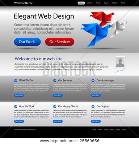 business website template - great for international companies, commercial agencies and governmental departments