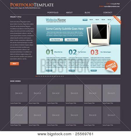 cartera de la plantilla de sitio web + bonus diseño web moderno está incluido!