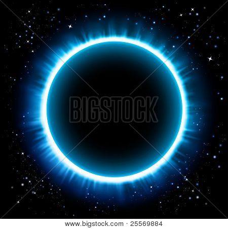 Eclipse blue background - Raster version