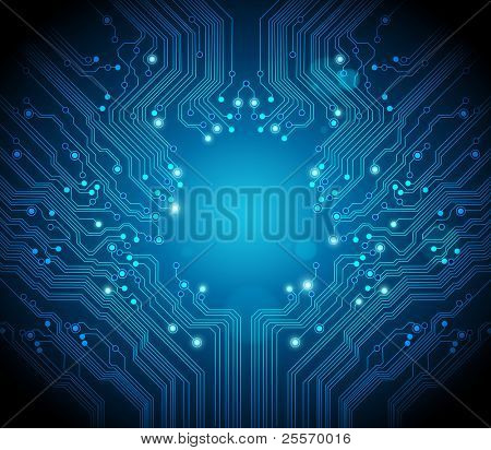 circuit board background RASTER version