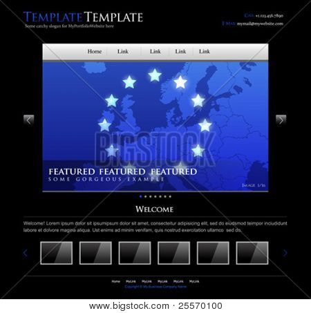business website design template - editable