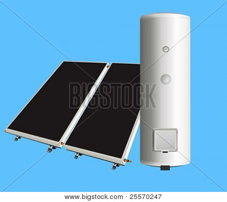 solar panels to the boiler for heating water